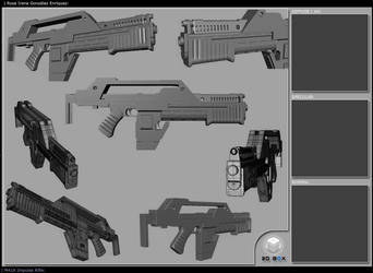 M41 Pulse Rifle Layout by dory1719