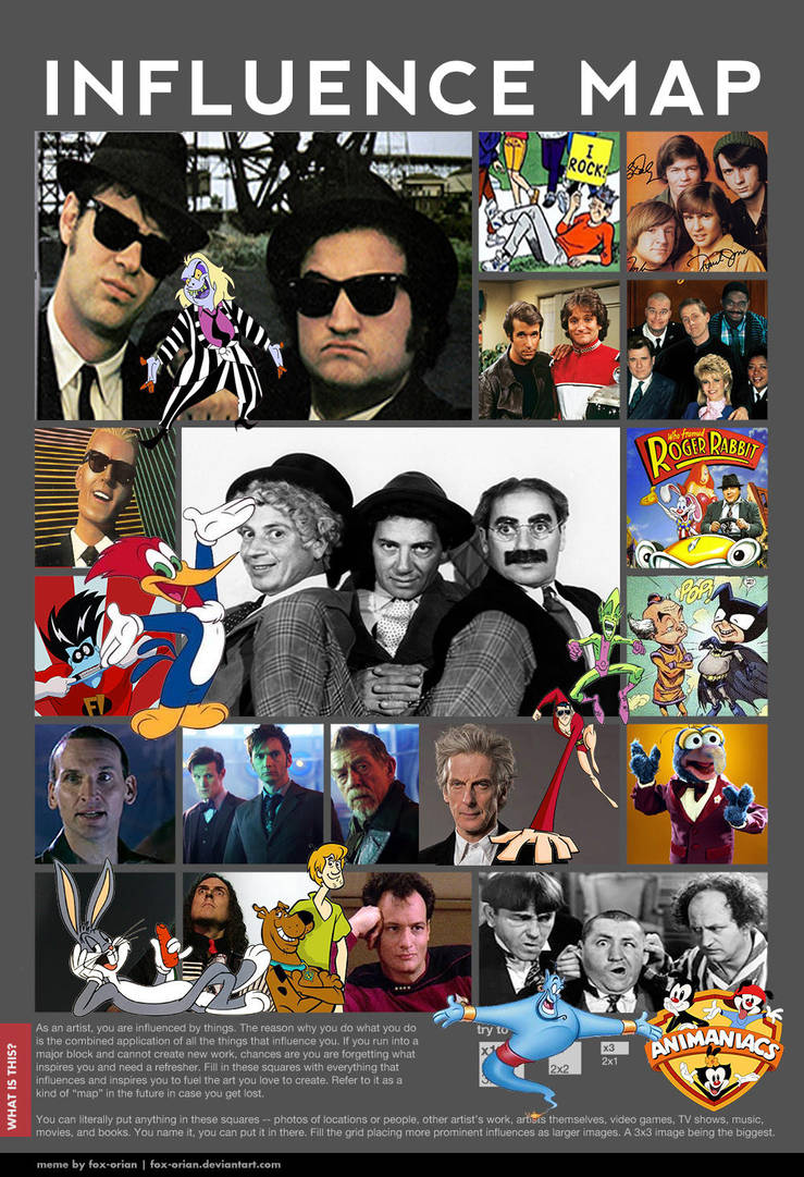 Influence Map Meme By Fox Orian Misfits by Misfits-Of-Mischief