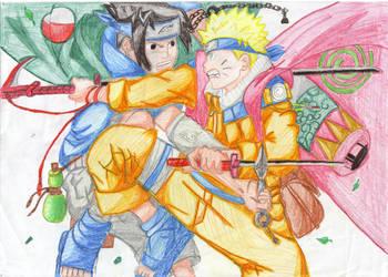 naruto n sasuke by Gamingfreak