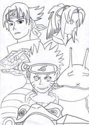 Naruto, Sasuke n Sakura by Gamingfreak