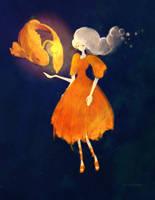 Lady Goldfish by dolphinabottle