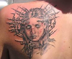 Tattoo by Louis Royo flash by derechteBigfoot