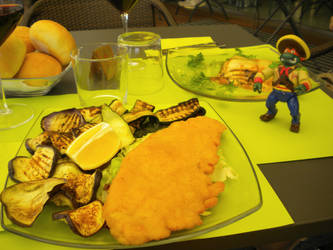 Lunch with Michelangelo by teddybearcholla