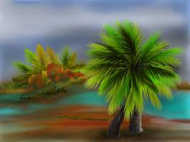 Two Palm Island by teddybearcholla