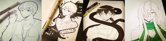 Sketch Compilation #1 by Aikansei