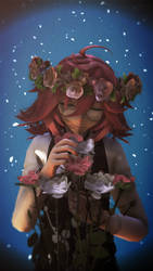 Castiven Loves Flowers by Emotay-P