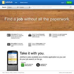 JobHub homepage by DPencilPusher