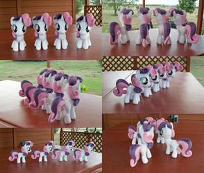 CMC Sweetie Belle Clones, YAY! by adamlhumphreys