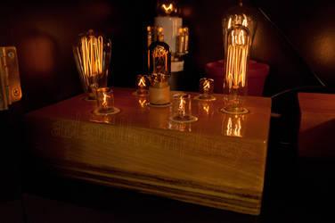 Candelabra Light Bulb Display by adamlhumphreys