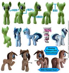 Pony Mare Stallion Plushie Sewing Pattern 27 by adamlhumphreys