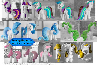 Mane 6 Pony Mane and Tail Patterns! by adamlhumphreys