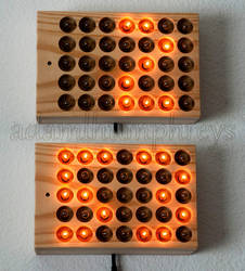 Incandescent Matrix Clock (Remote Controlled) by adamlhumphreys