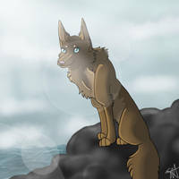 That Wolf by the Sea by TheFallenWhisper