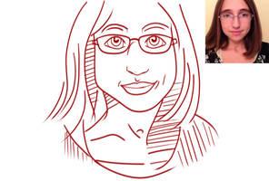 Self Portrait Sketch by TheFallenWhisper