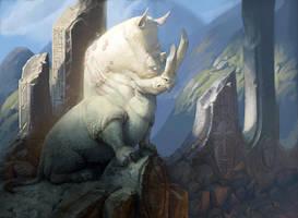 Rhino God by Artsammich