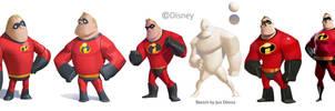 Disney Infinity: Mr Incredible Evolution by Artsammich