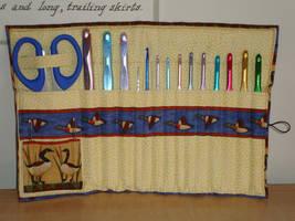 Crochet hook case by Lass-Samantha