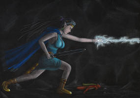 Anelyelle : Fighting Chaos and Darkness by Haleryan
