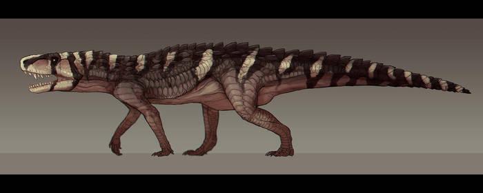 Rauisuchus tiradentes by Paleocolour