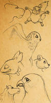 Animals sketches by M053AB