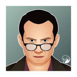 Mr robot Christian Slater by M053AB