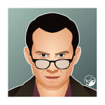 Mr robot Christian Slater by M053AB