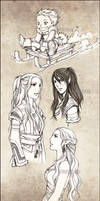 Request IV and sketches by Synke