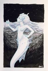 Inktober 2017 Day 4: Underwater by aemuaemu