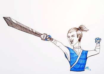 Inktober 2017 Day 6: Sword by aemuaemu