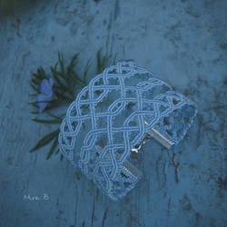 Light Blue Celtic Inspired Macrame Bracelet by releaserevolverenew