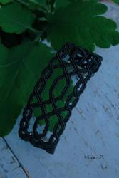 Black Celtic Inspired Micromacrame Bracelet by releaserevolverenew