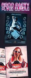Disco Party Flyer Bundle by mucahitgayiran