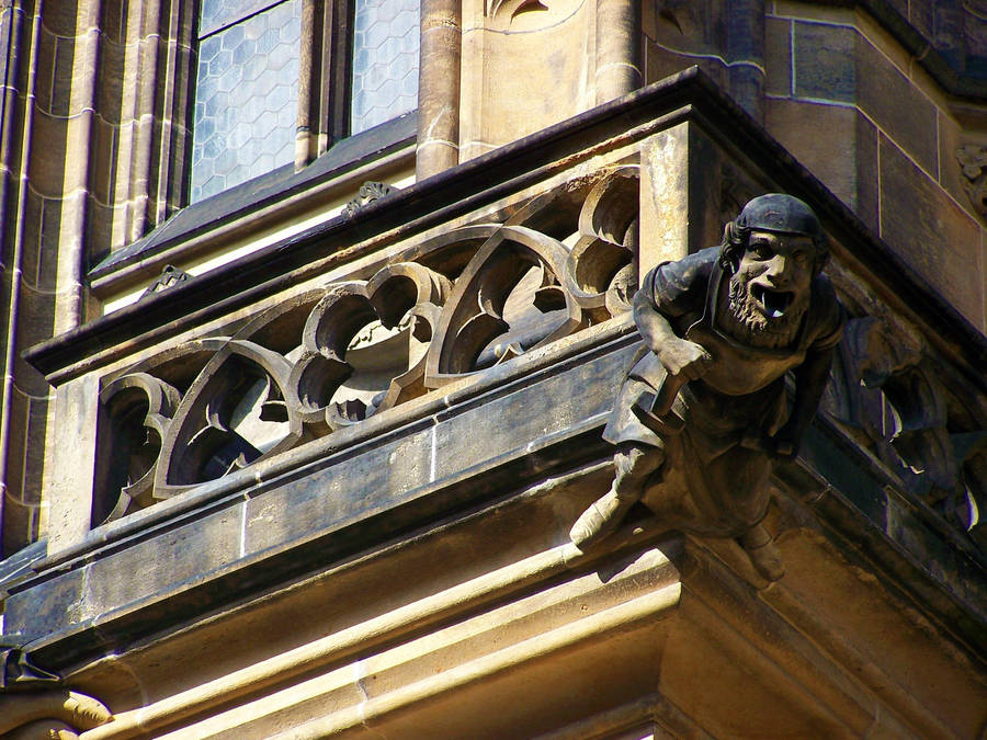 Gargoyle - Prague by Cheez-it-eater