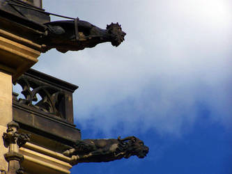 Gargoyles - Prague by Cheez-it-eater