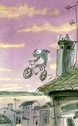 lisbon fish on bicicle by AtelierGH