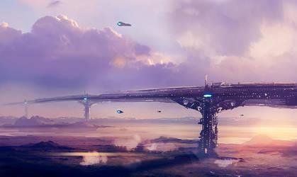 Planet Bridge by dustycrosley