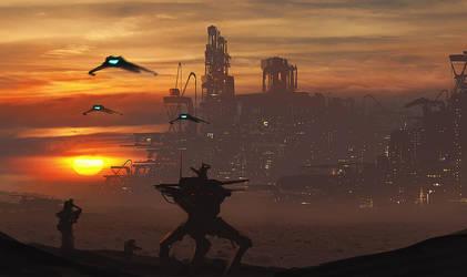 Sunset Invasion by dustycrosley