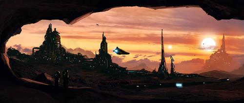 First Settlement on Proxima Centauri b by dustycrosley