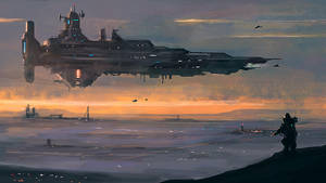 Capital Ship by dustycrosley