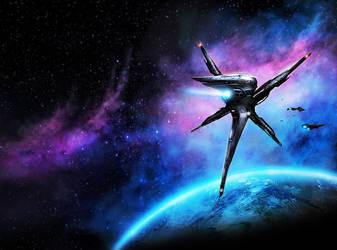Prominence: Blackstar Command Book 1 (Cover Art) by dustycrosley