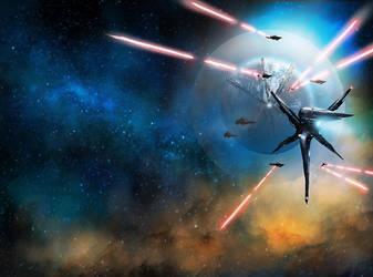 Prominence: Blackstar Command Book 2 (Cover Art) by dustycrosley
