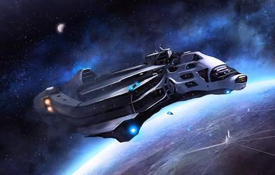 Interstellar Yacht by dustycrosley
