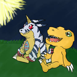 Digimon fireworks by RPGMiner