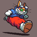 A Cat in Time by Neoweegee
