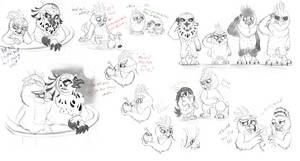.:Some Sketches birbs 1#:. by xXLegendary-FuryXx