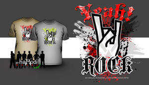 Rock Theme T-Shirt by drDIGITALhamodi