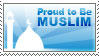 Proud To Be Muslim Stamp by drDIGITALhamodi