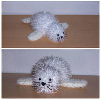 Robbie, the crochet seal by whitewinged
