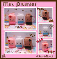 Milk Plushies by littlepaperforest