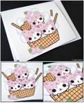 Ice Cream Kitties Card by littlepaperforest